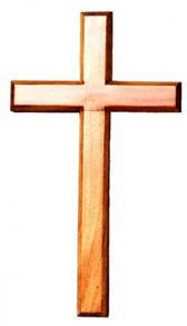 Wooden Cross 60cm Hanging -