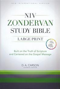 NIV Zondervan Study Bible, Large-Print; Hardcover -