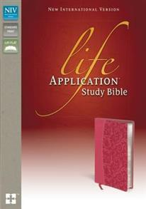 NIV Bible 2011 Study Life Application Duotone Honeysuckle Pink -