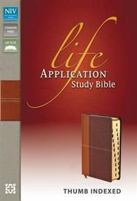 NIV Bible 2011 Study Life Application Duotone Indexed Caramel Dark Caramel -