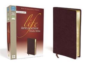 NIV Bible 2011 Study Life Application Personal Bonded Leather Burgundy -
