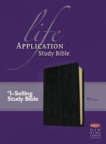 NKJV Bible Study Life Application Bonded Leather Black -