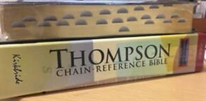 KJV Bible Reference Thompson Bonded Leather Black Indexed -