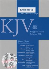 KJV Cameo Reference Edition KJ455:XR Brown Calfskin Leather (Leather / fine binding) -
