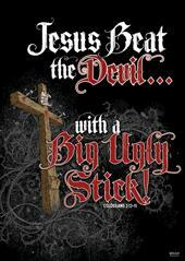 Jesus Beat The Devil Poster Large -