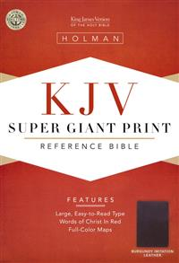 KJV Bible Reference Super Giant Print Leathertouch Charcoal -