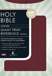NKJV Bible Reference Personal Giant Print Imitation Leather Burgundy -