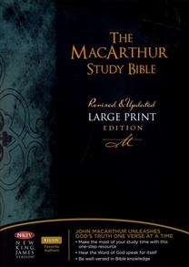 NKJV Bible Study MacArthur Study Large Print Hardcover -