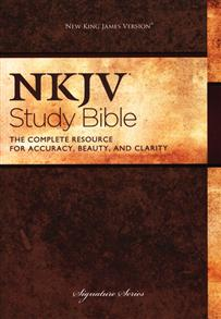NKJV Bible Study Signature Hardcover -