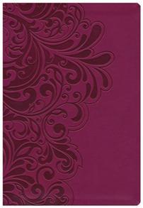 NKJV Bible Study Signature Leathersoft Cranberry -