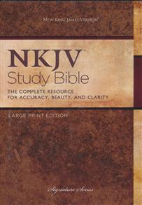 NKJV Bible Study Signature Large Print Hardcover -