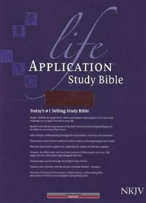NKJV Bible Study Life Application Bonded Leather Burgundy -