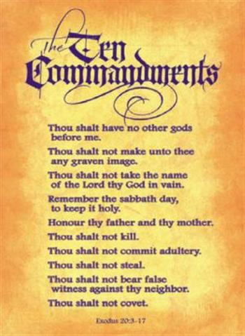 how to remember the 10 commandments catholic