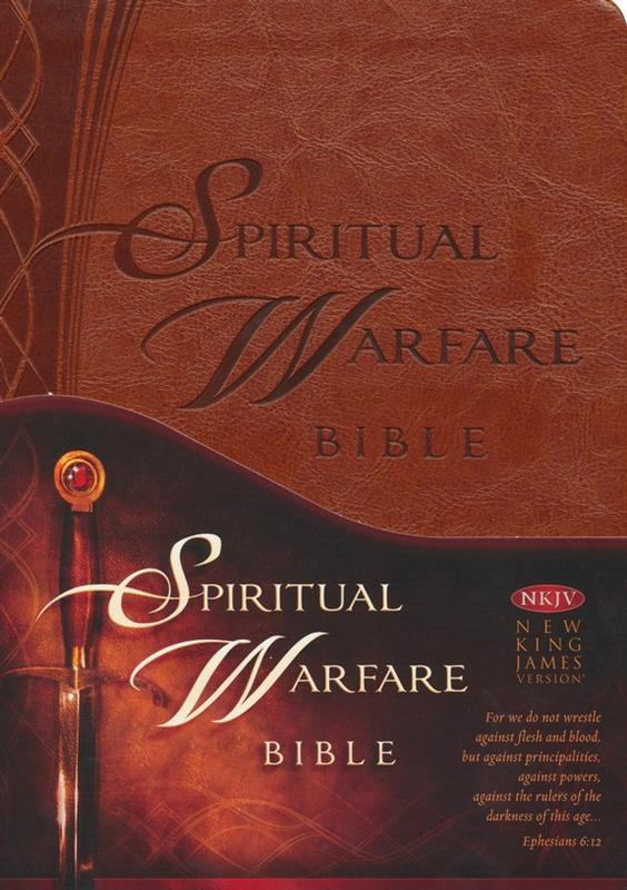 NKJV Spiritual Warfare Bible - Leather Like at Christian Bookshop
